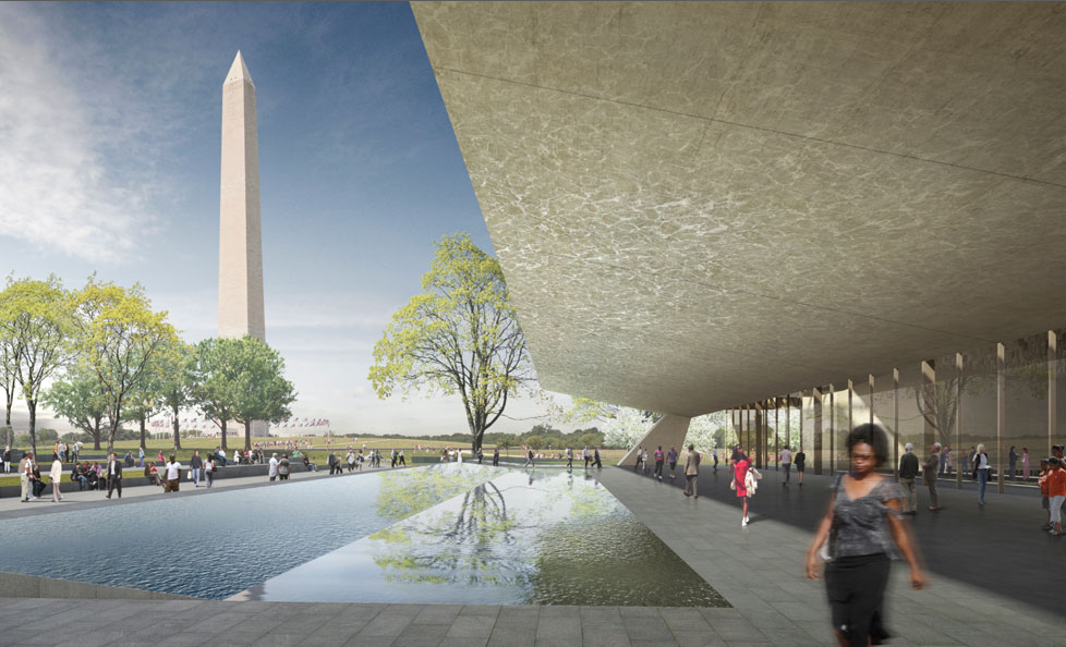 Rendering Detail of the National Museum of African American History and Culture