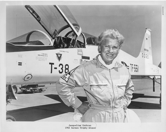 Jacqueline Cochran (d. 1980): First woman to break the sound barrier, 1962, Unidentified photographe