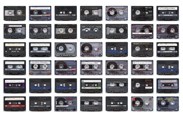 Cassettes, by James Davies, https://www.flickr.com/photos/jamesdavies/6798468857/.