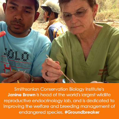 Smithsonian Conservation Biology Institute's Janine Brown is head of the world's largest wildlife re
