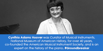 Cynthia Adams Hoover, Curator of Musical Instruments, National Museum of American History