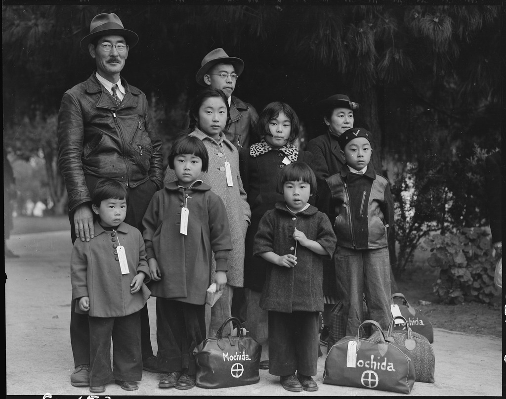 WWII Internment of Japanese, by Dorothea Lange.