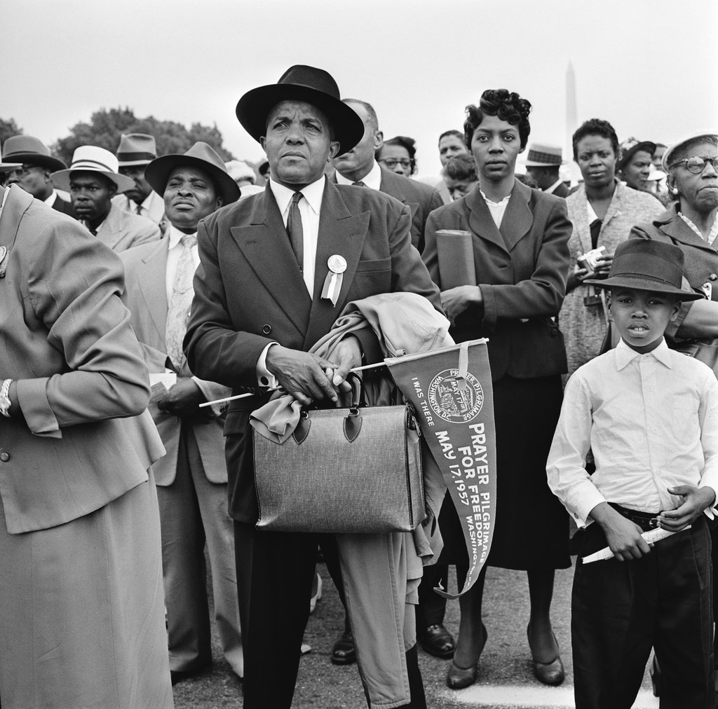 Prayer Pilgrimage for Freedom at the Lincoln Memorial in Washington on May 17, 1957, by George Tames
