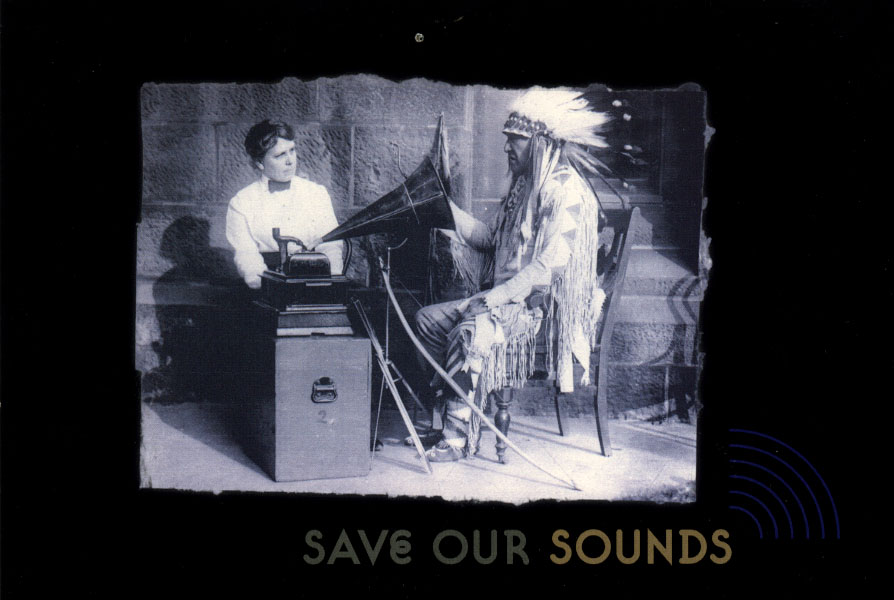 Save Our Sounds Postcard, Photo Courtesy of National Anthropological Archives