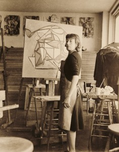 Krasner, circa 1938. Photographer unknown. Jackson Pollock and Lee Krasner papers, circa 1905–1984. Archives of American Art.
