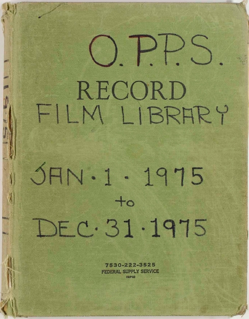 Front cover of a logbook, Courtesy of the Smithsonian Institution Archives, Acc. 10-0001.