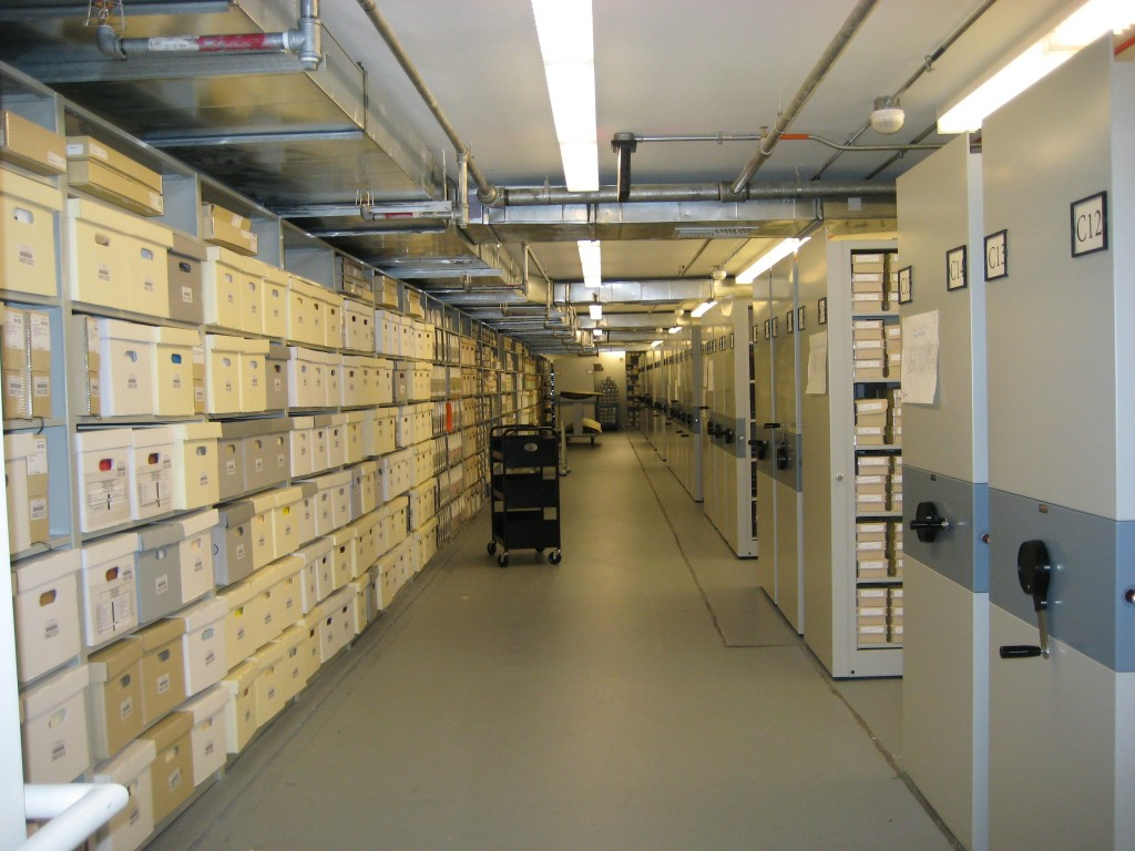 Smithsonian Institution Archives On-site Collection Storage, Capital Gallery, 2009, by Jennifer Wright.