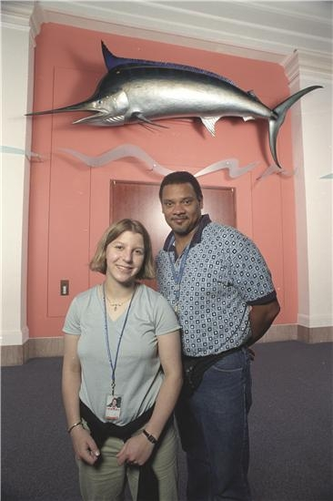 Linsey Scott, Intern, and Michael Barnes, Photographer, from the Center of Scientific Imaging and Ph
