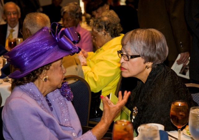 Dorothy Height, chairman and president emerita, National Council of Negro Women and Johnnetta Cole,