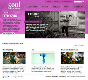 Screenshot of Soul of Athens Website, 6/1/2010.
