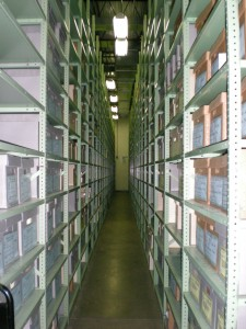 Is this the image that pops into mind when you think of an archives? Off-site archival storage previously used by the Smithsonian Institution Archives, 2008, Photo courtesy of Jennifer Wright.