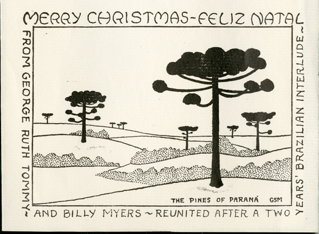 George Sprague Myers (1905-1985) Family Christmas Card, c. 1944, Smithsonian Institution Archives, Record Unit 7317, SIA2011-0015.