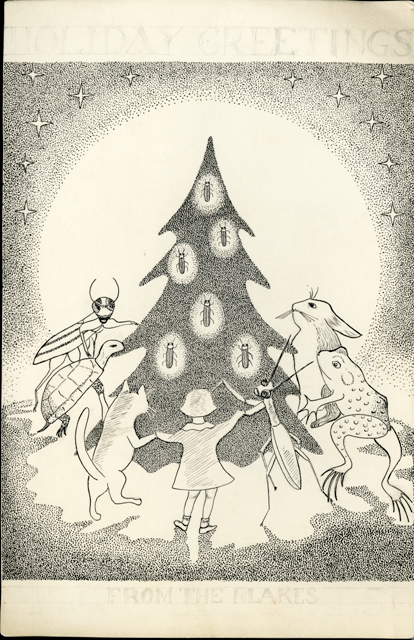 Doris Holmes Blake (1892-1978) Family Christmas Card, undated, Smithsonian Institution Archives, Record Unit 7310, SIA2011-0016.