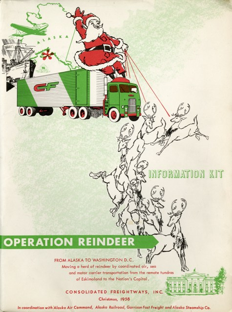 Operation Reindeer Kit, 1958, by Consolidated Freightways, Color document, Smithsonian Institution A