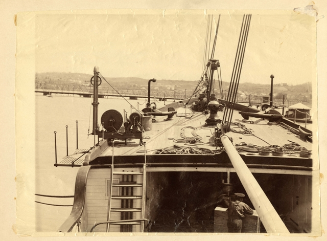 View of upper deck of the Albatross by an unidentified photographer, The Albatross is the first exam