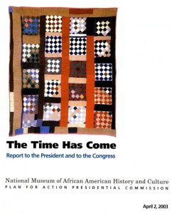 Cover of April 2003 Report to the President and Congress, Smithsonian Institution Archives, Accession 07-172, NMAAHC , Planning Records, 1991-1993, 2002-2003.