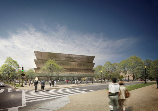 Freelon Adjaye Bond/SmithGroup Design for the Smithsonian's National Museum of African American History and Culture (NMAAHC), Courtesy NMAAHC.