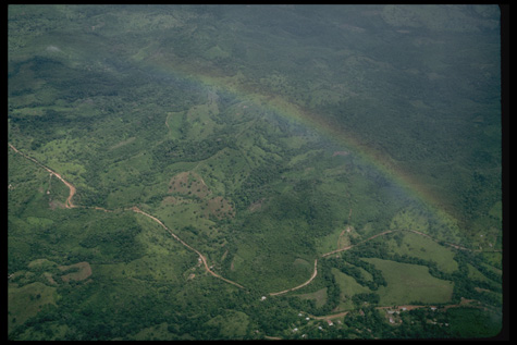 Aerial view along the Atlantic coast of Panama between Bocas del Toro and Colon, 1991, by Carl C. Ha