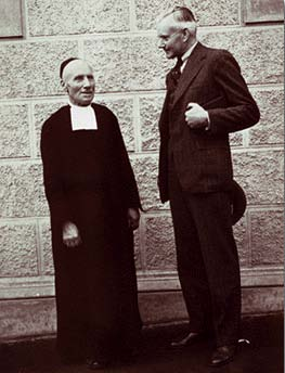Brother Apolina Maria with Alexander Wetmore in Colegio De La Salle, Bogatá, Colombia, March 13, 1941, by Unidentified photographer, Photographic Print, Smithsonian Institution Archives, Record Unit 7006, Negative Number: C8i5.