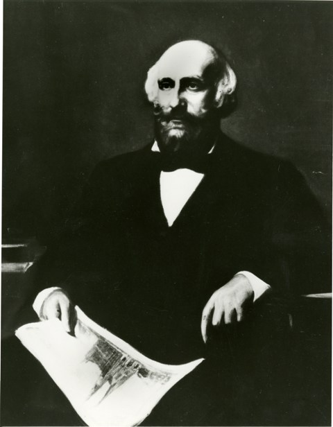 James Renwick, Jr., 1853, by John Whetten Ehninger, photograph of oil painting on canvas, courtesy of the Avery Library of Columbia University, Smithsonian Institution Archives, Record Unit 95, Box 19, Folder 18, Negative Number SIA2011-1485.