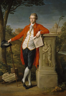 Pompeo Batoni, Francis Basset, 1778, oil on canvas, Museo Nacional del Prado, Madrid.
