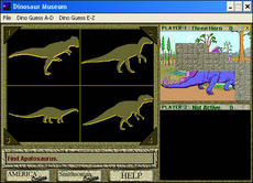 Screenshot of an executable file that executes a game, Smithsonian Office of Education, Smithsonian Online Records, 1991-1997, Accession 97-136, Smithsonian Institution Archives.