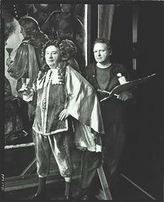 Francis Vandeveer Kughler in his studio with a model.