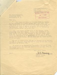 Letter from R. C. Deming to Ned Hollister, June 5, 1918, R.C. Deming, Object, Record Unit 74, SIA, Neg. no. SIA2013-00215.