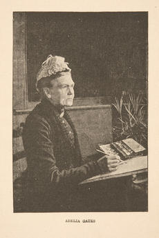 A portrait of Adelia Gates, frontispiece in The Chronicles of the Sid, or the Life and Travels of Ad