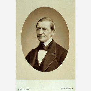 Ralph Waldo Emerson, c. 1875, by Frederick Gutekunst, photograph, National Portrait Gallery, Object number: NPG.77.171.