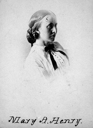 Mary Henry, c. 1855, by an unidentified photographer, card photograph, Smithsonian Institution Archives, Record Unit 95, Box 12, Folder: 5, Neg. no. 82-3258