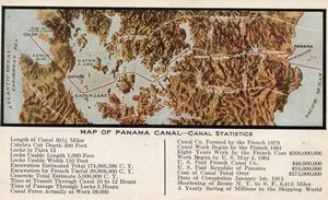 Map of the Panama Canal and surrounding area. From Doug Allen's collection.