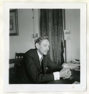 Dr. Paul Bartsch, May 1937, by Ruel P. Tolman, photographic print, Smithsonian Institution Archives, Record Unit 7433, Box 3, Scrapbook II, Negative number SIA2011-0253.