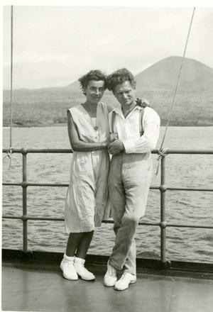 The Ritters aboard the Velero, c. 1934 Waldo Schmitt Papers, RU 7312 box 89.