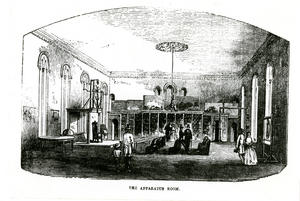 Apparatus Room in the Smithsonian Institution Building, 1857