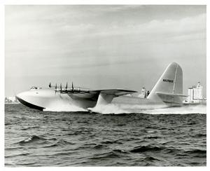 """The Spruce Goose"" landing on November 2, 1947. Courtesy of the Smithsonian Institution Archives Rec"