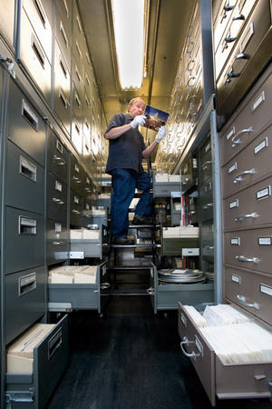 The Smithsonian Institution Archives' Collections Vault of Historic Photography with John Dillaber, Staff Digital Imaging Specialist, by Ken Rahaim.