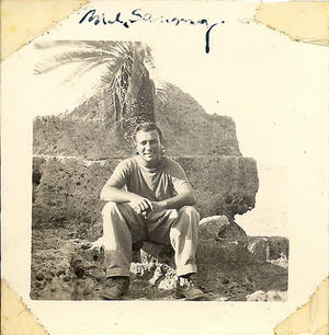 Sammy M. Ray on Okinawa, 1945, photograph courtesy of Sammy M. Ray.