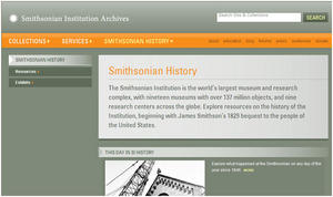 SIA's Smithsonian History Landing Page