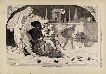 The New Year--1869, from Harper's Weekly, January 9, 1869, by Winslow Homer.
