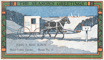 Rural Letter Carrier's Christmas Card, 1915, National Postal Museum