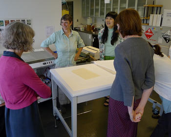 Reveal of the hard-soft sandwich results. FAIC Conservation of Transparent Papers workshop, July 17-