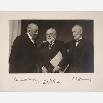 Warren G. Harding, Robert Todd Lincoln and Joseph Gurney Cannon, 1922, gelatin silver print, by Harris & Ewing Studio, National Portrait Gallery, NPG.84.247.
