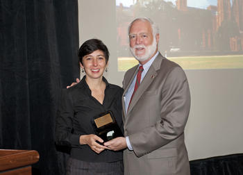Effie Kapsalis pictured with Smithsonian Secretary Wayne Clough.