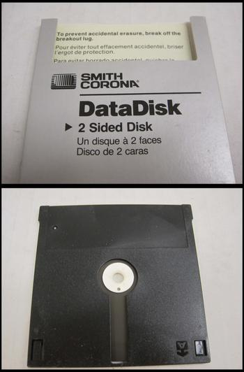 Smith Corona Data Disk, John Davis Hatch Papers, Collection #209844, Archives of American Art.