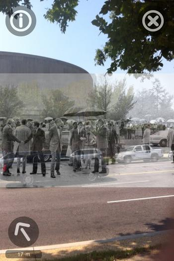 """Using @historypin app to see what this block across from @hirshhorn looked like"
