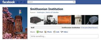 Screenshot of the Smithsonian Institution's Facebook page.