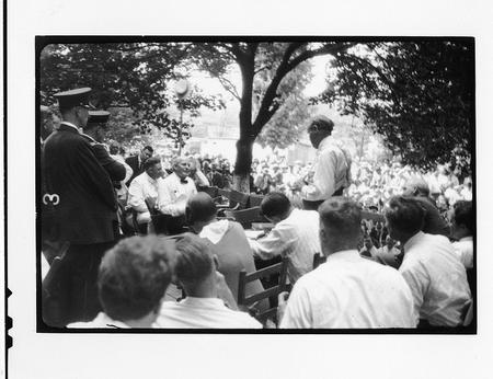 Tennessee v. John T. Scopes Trial: Outdoor proceedings on July 20, 1925