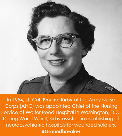 In 1954, Lt. Col. Pauline Kirby of the Army Nurse Corps (ANC)