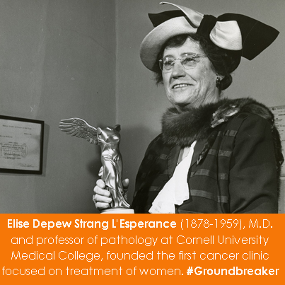 Elise Depew Strang L'Esperance (1878-1959), M.D. and professor of pathology